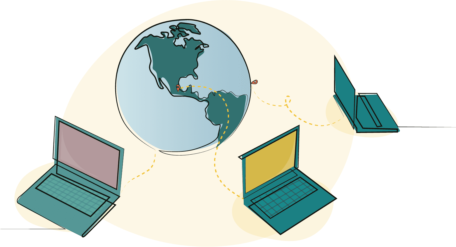 Live locally, work globally